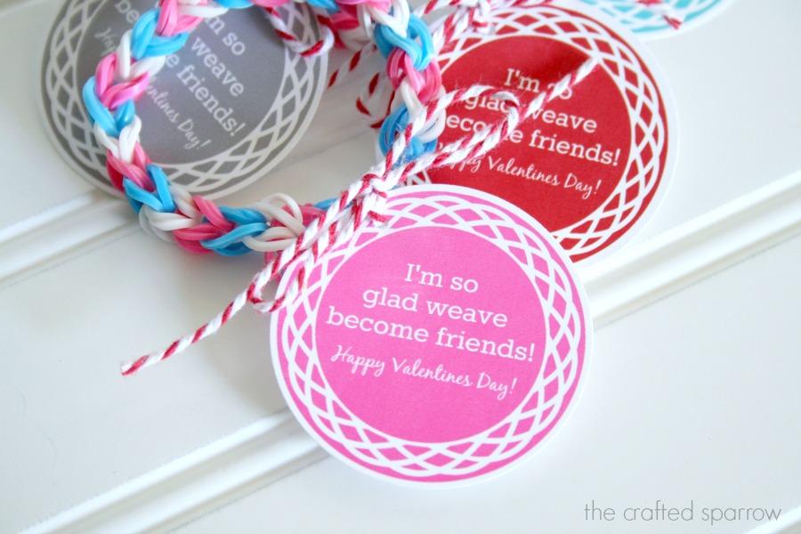 Loom Band Printable Valentine's Tag