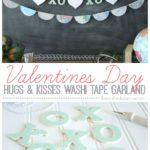 Valentine's Day Hugs & Kisses Washi Tape Garland