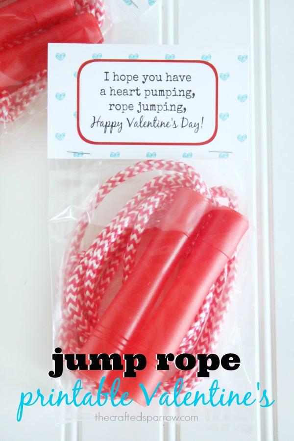Jump Rope Printable Valentine's