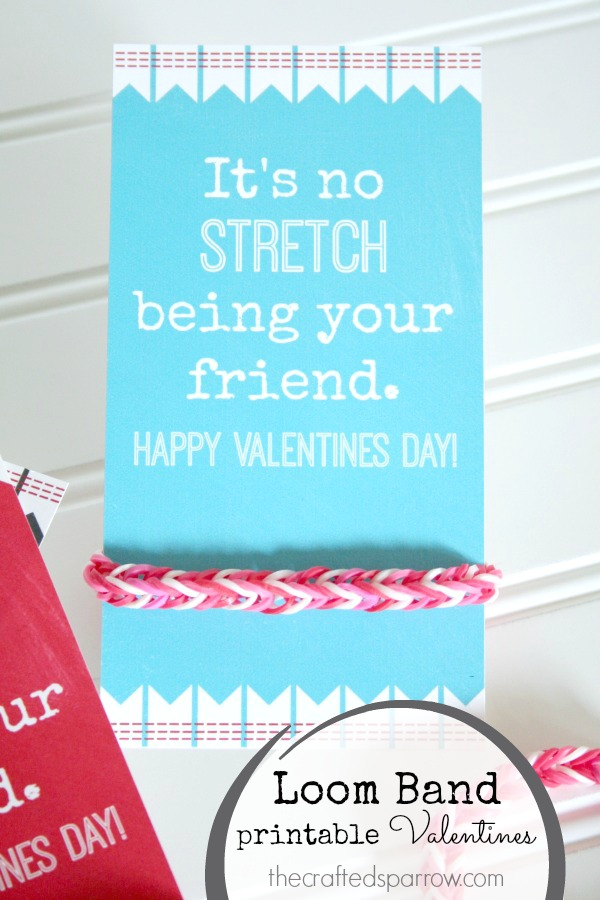 Loom Band Printable Valentines