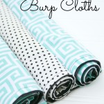 DIY Cotton Print Burp Cloths