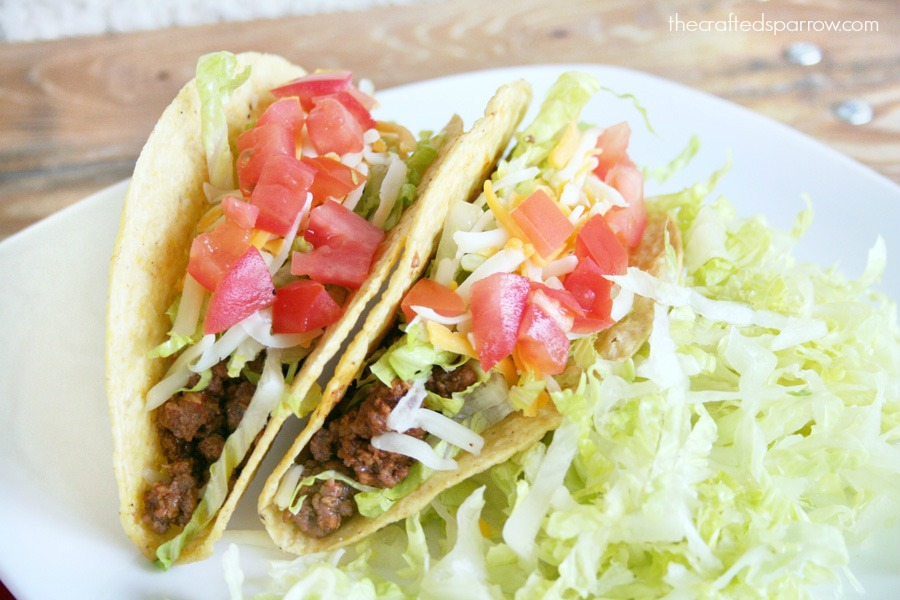 Ground Beef Tacos Made Lighter 1