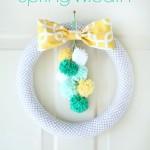 Pom Pom Spring Wreath