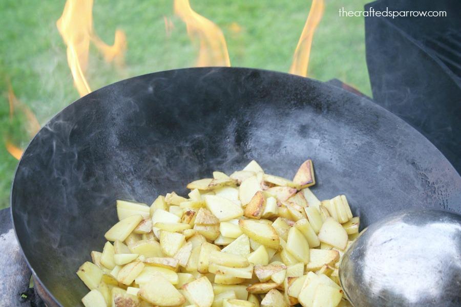 Potato & Poblano Pepper Burritos