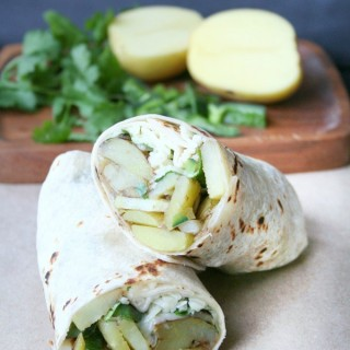 Potato & Poblano Pepper Burritos
