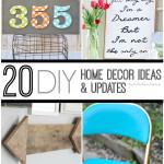 20 DIY Home Decor Ideas & Updates