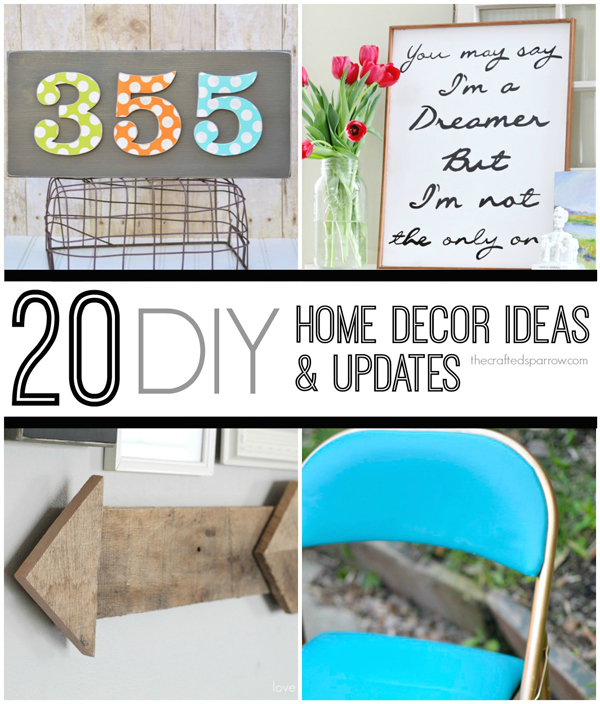 Pinterest Home Decor 2014: 20 DIY Home Decor Ideas & Updates