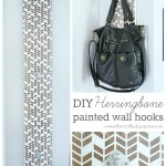 DIY Herringbone Painted Wall Hooks