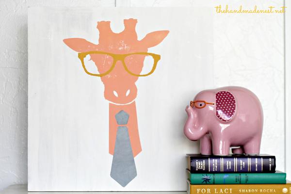 Giraffe Silhouette - The Handmade Nest