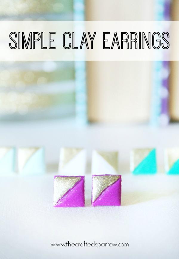 Simple Clay Earrings