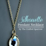 DIY Silhouette Pendant Necklace