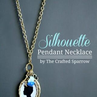 DIY Silhouette Pendant Necklace