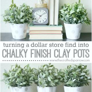 Chalky Finish Clay Pots