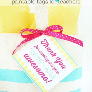 Printable Teacher Thank You Tags