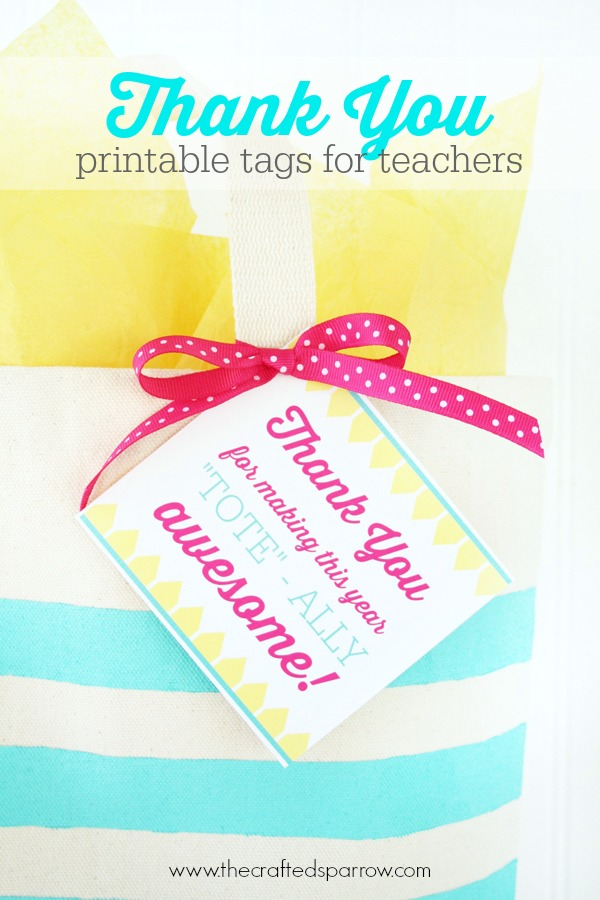graphic regarding Thank You Printable Tag known as Printable Instructor Thank Your self Tags