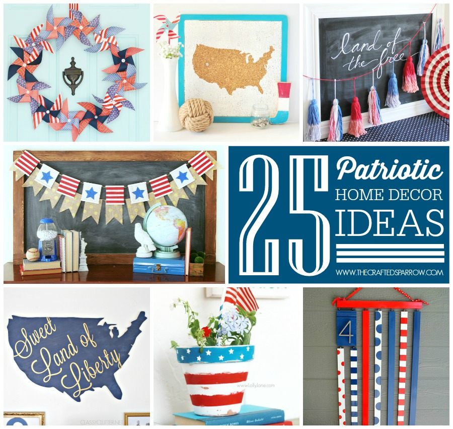sc 1 st  The Crafted Sparrow & 25 Patriotic Home Decor Ideas