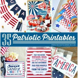 35 Free Patriotic Printables