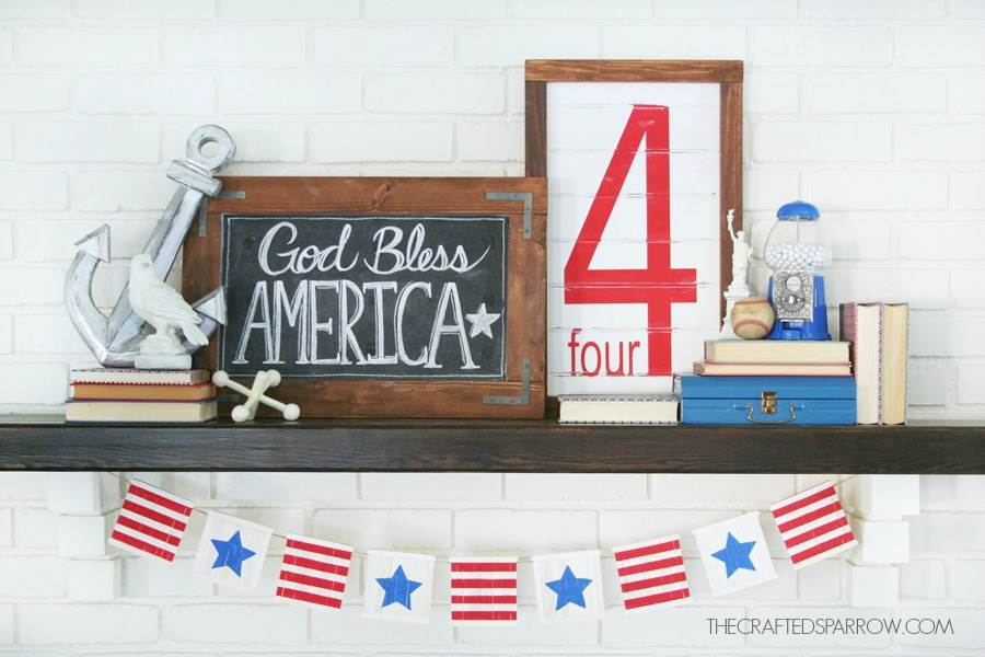 4th-of-July-Mantel