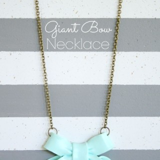 Giant Bow Necklace