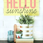 DIY Slatted Summer Sign