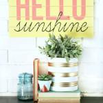 DIY Slatted Summer Sign