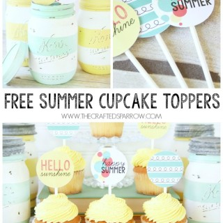 Free Summer Cupcake / Food Topper Printables