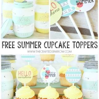 Free Summer Cupcake / Food Topper Printables
