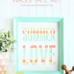 Summer Washi Tape Art