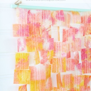 Wax Paper Crayon Art
