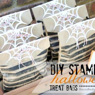 DIY Stamped Halloween Treat Bags