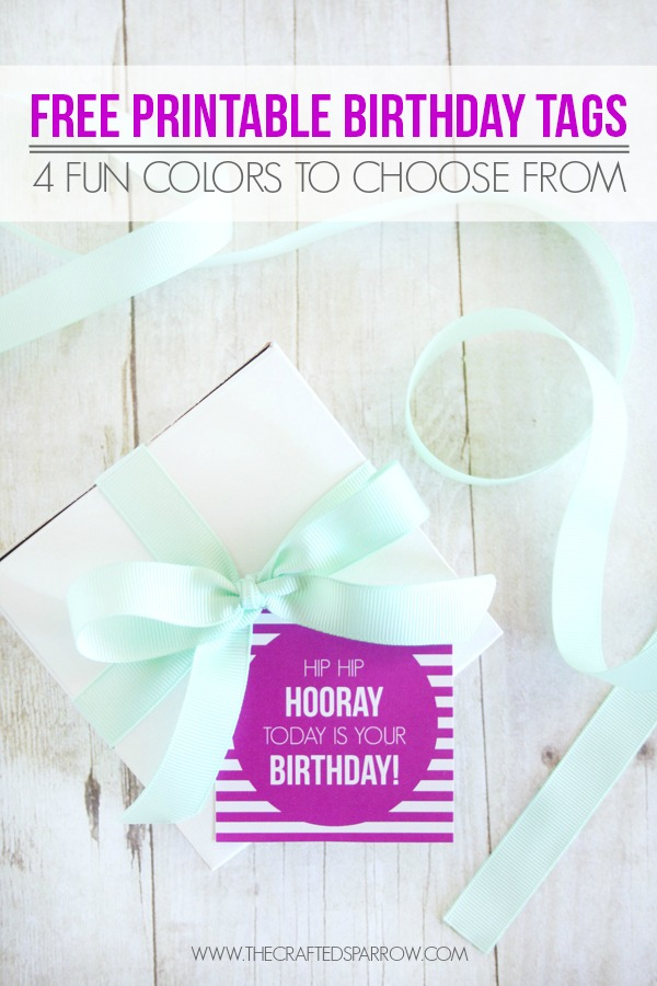 picture relating to Free Printable Birthday Tag named No cost Printable Birthday Tags