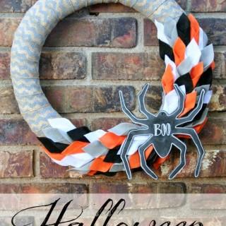 Halloween Felt & Burlap Wreath