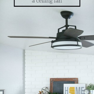 How to Update & Install a Ceiling Fan