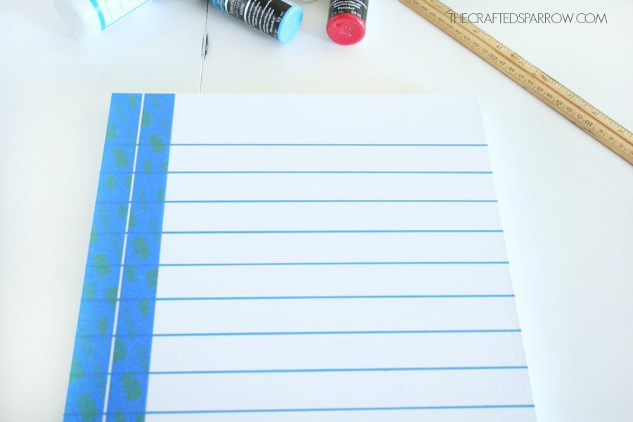 Notebook Paper Chalkboard 12