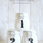 Numbered Mason Jars – using DecoArt paints