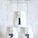 Numbered Mason Jars – using DecoArt paints