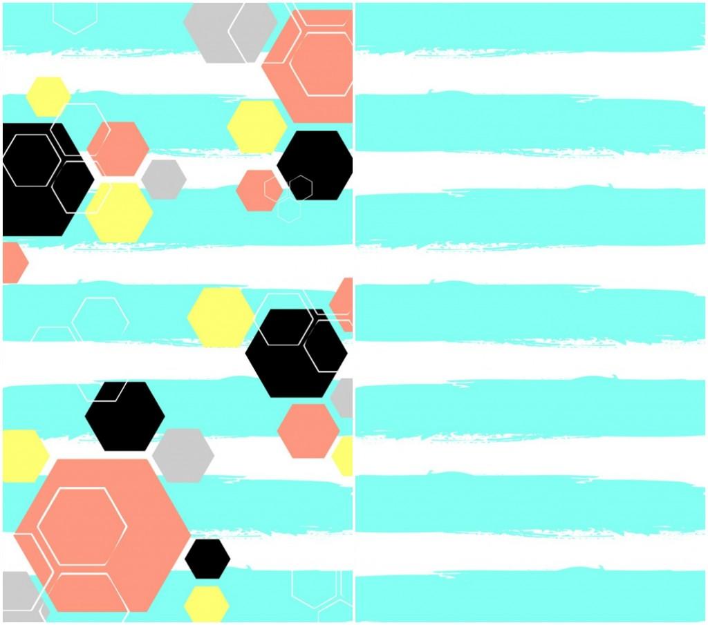Turquoise-Hexagon-Phone-Wallpaper