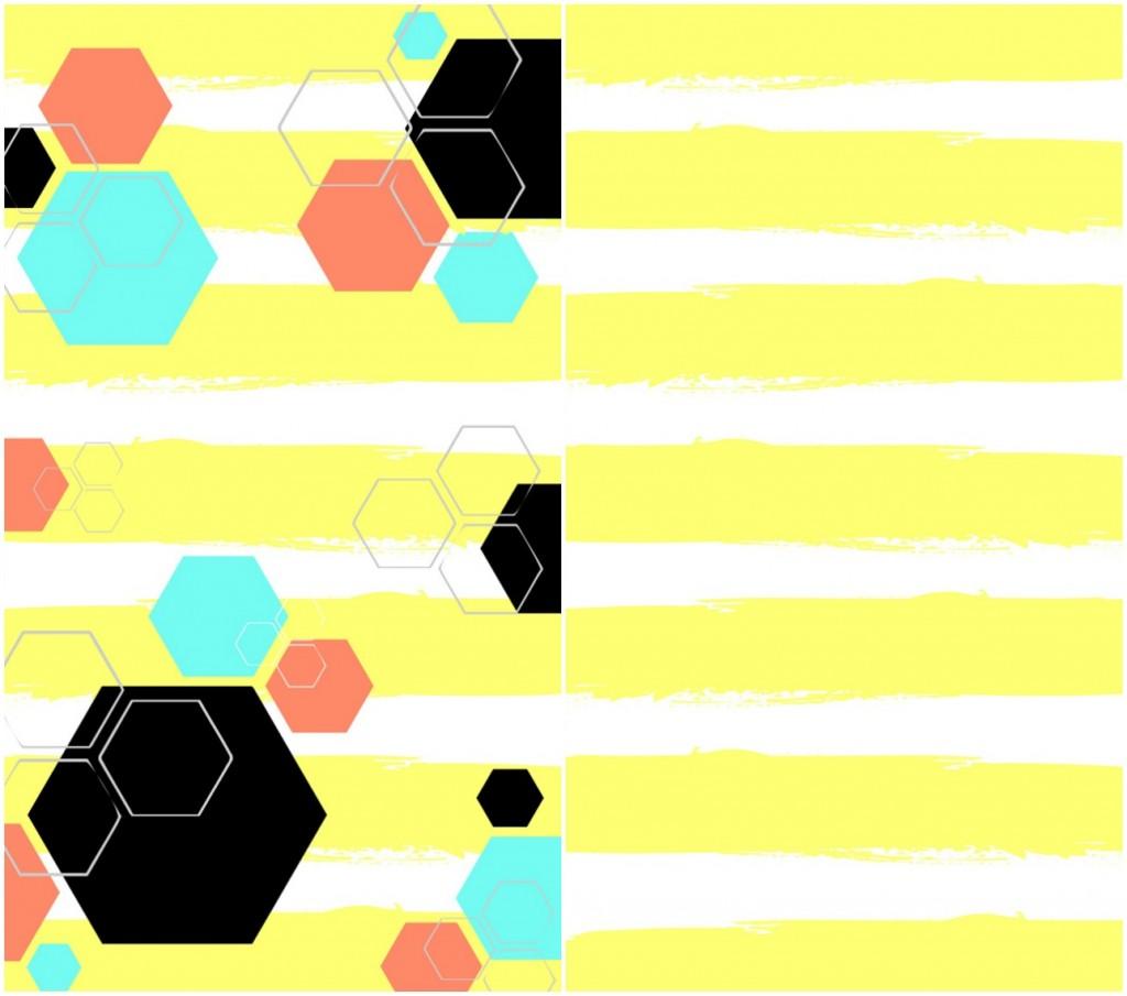 Yellow-Hexagon-Phone-Wallpaper