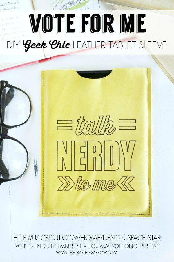 DIY Geek Chic Leather Tablet Sleeve Vote