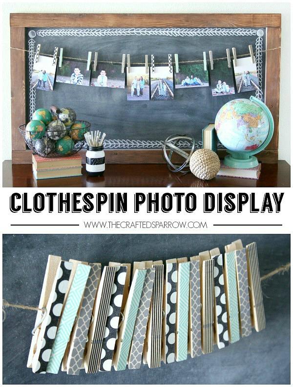 Clothespin-Photo-Display