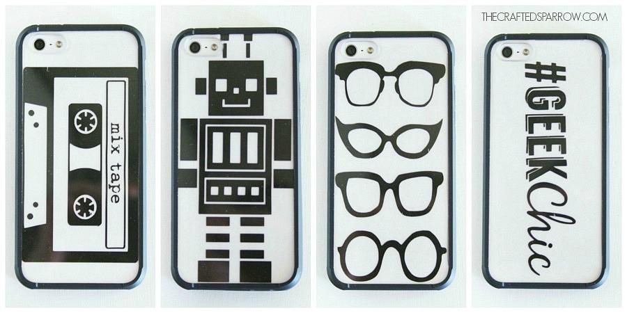 DIY Geek Chic Phone Covers