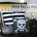Felt Skull Halloween Pillow {Target Knock-Off}