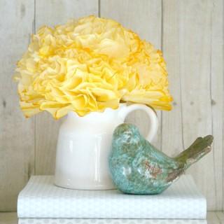 Coffee Filter Peonies Flowers