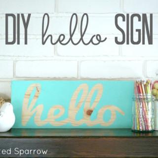 DIY Hello Sign