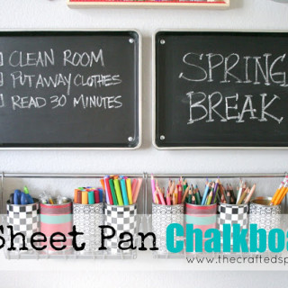 DIY Sheet Pan Chalkboards