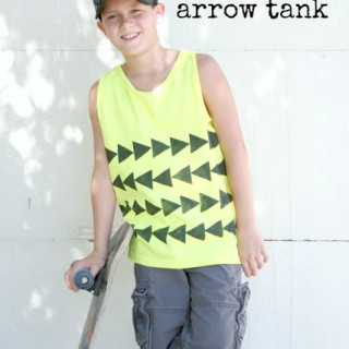 DIY Foam Stamped Arrow Tank