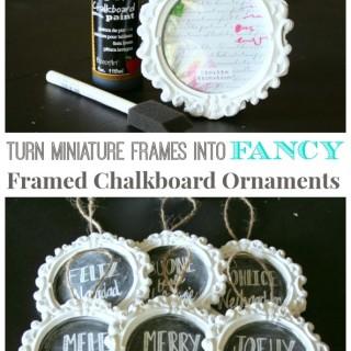 Fancy Framed Chalkboard Ornaments & Giveaway