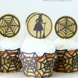 Easy Halloween Cupcake Toppers & Wrappers