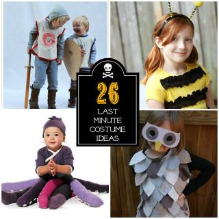 Last Minute Halloween Costume Ideas {Kids}