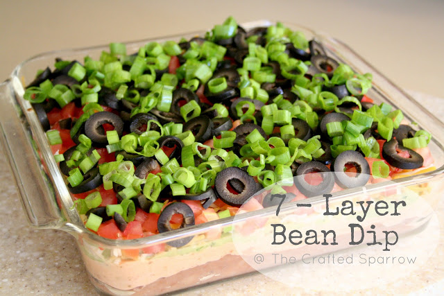 7 Layer Bean Dip Amp Guacamole